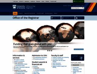 registrar.uvic.ca screenshot