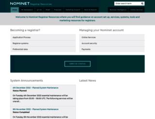 registrars.nominet.org.uk screenshot