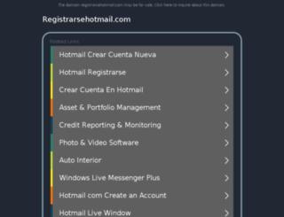 registrarsehotmail.com screenshot