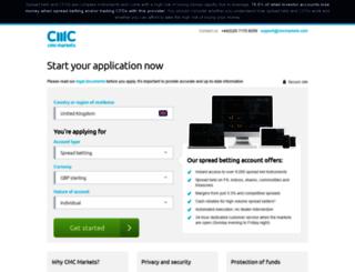 registration.cmcmarkets.com screenshot