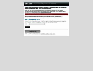 registration.dlink.com.au screenshot