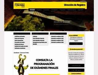 registro.uniandes.edu.co screenshot