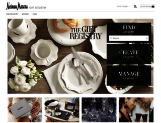 Registry Neimanmarcus Com Screenshot
