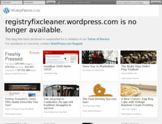 registryfixcleaner.wordpress.com screenshot