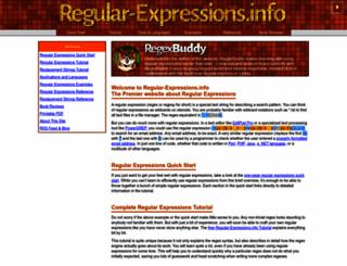 regular-expressions.info screenshot