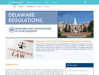 regulations.delaware.gov screenshot