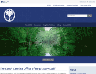 regulatorystaff.sc.gov screenshot