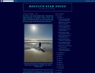 regulus-starnotes.blogspot.com screenshot