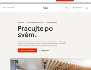regus.cz screenshot