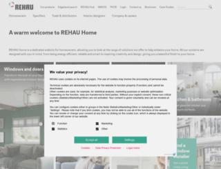 rehauhome.co.uk screenshot