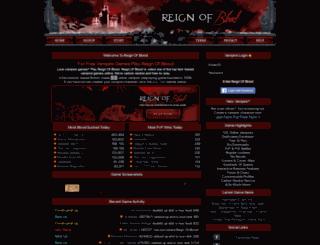 reignofblood.net screenshot