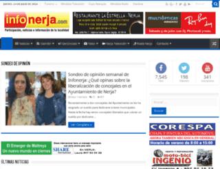 reinaycaballerodenerja.infonerja.com screenshot
