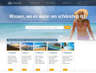 reise-klima.de screenshot