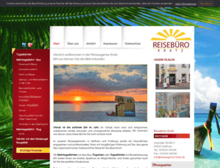 reiseagentur-kratz.de screenshot