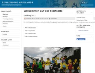 reisegruppe-haselnuss.de screenshot
