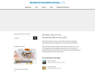 reisekostenabrechnung.com screenshot