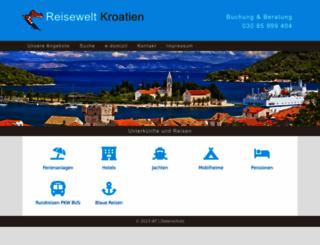 reisewelt-kroatien.de screenshot