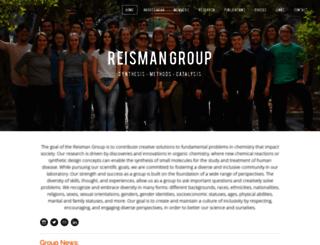 reismangroup.caltech.edu screenshot