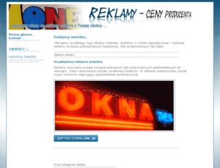 reklamy-swietlne.zlecam24.pl screenshot