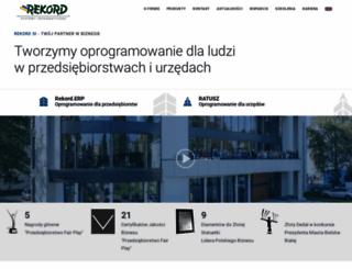 rekord.com.pl screenshot