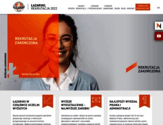 rekrutacja.lazarski.pl screenshot