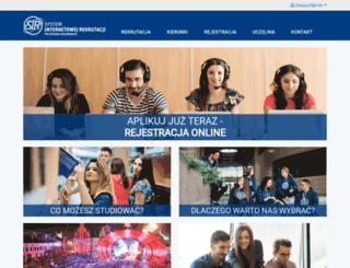 rekrutacja.prz.edu.pl screenshot