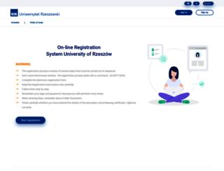 rekrutacja.ur.edu.pl screenshot