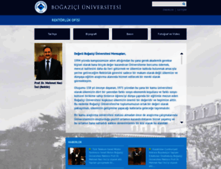 rektorluk.boun.edu.tr screenshot