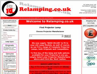 relamping.co.uk screenshot