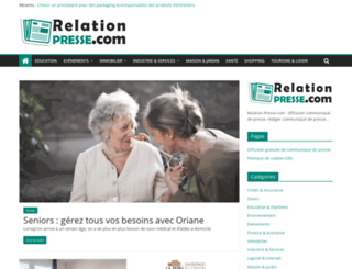 relation-presse.com screenshot