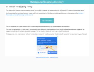 relationship-closeness-inventory.com screenshot
