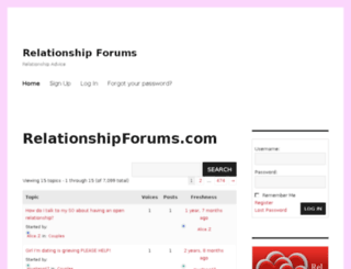 relationshipforums.com screenshot