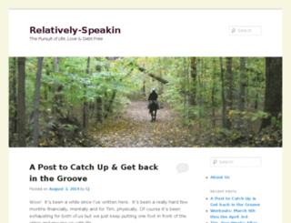 relatively-speakin.com screenshot