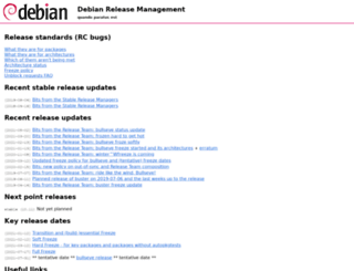 release.debian.org screenshot