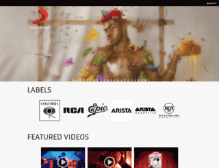 release.sonymusic.com screenshot