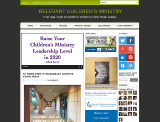 relevantchildrensministry.com screenshot