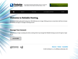 reliablehosting.com screenshot