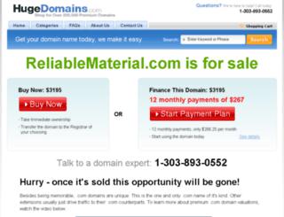reliablematerial.com screenshot