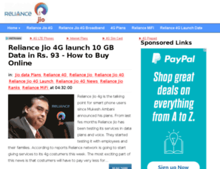 reliancejio-4g.com screenshot