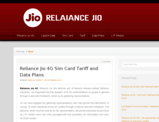 reliancejiodataplans.in screenshot