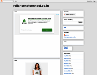 reliancenetconnect.co.in screenshot