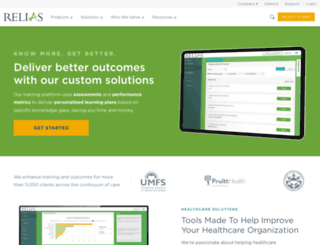 reliaslearning.com screenshot