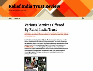 reliefindiatrustreview.wordpress.com screenshot