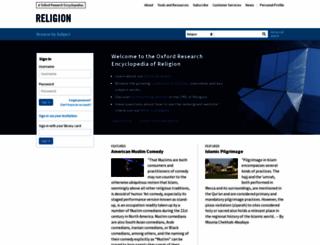 religion.oxfordre.com screenshot