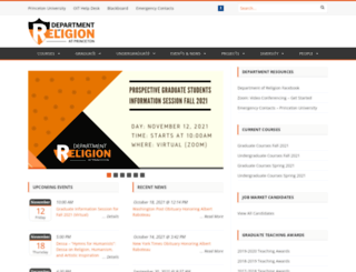 religion.princeton.edu screenshot