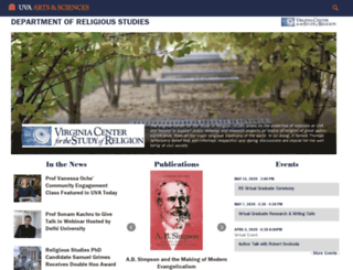 religiousstudies.virginia.edu screenshot