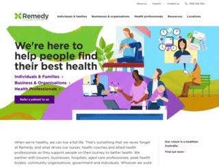remedyhealthcare.com.au screenshot