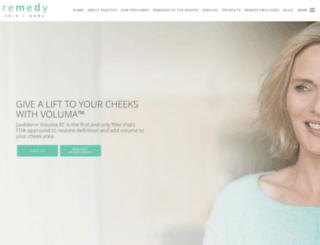 remedyskinandbody.com screenshot
