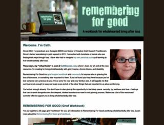 rememberingforgood.com screenshot