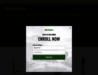 remington.com screenshot
